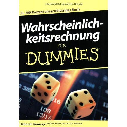 Deborah Rumsey - Wahrscheinlichkeitsrechnung für Dummies - Preis vom 11.06.2021 04:46:58 h