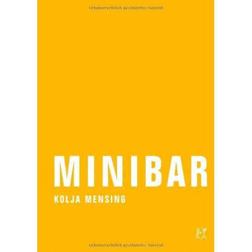 Kolja Mensing - Minibar - Preis vom 22.06.2021 04:48:15 h