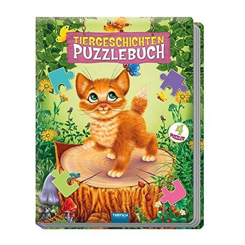 Trötsch Verlag GmbH & Co. KG - Puzzlebuch Tiergeschichten: 4 Puzzles, 12-teilig mit Farbvorlagen - Preis vom 15.06.2021 04:47:52 h