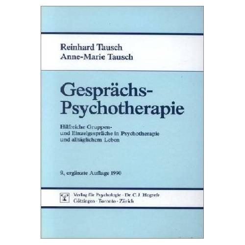 Reinhard Tausch - Gesprächspsychotherapie - Preis vom 19.06.2021 04:48:54 h