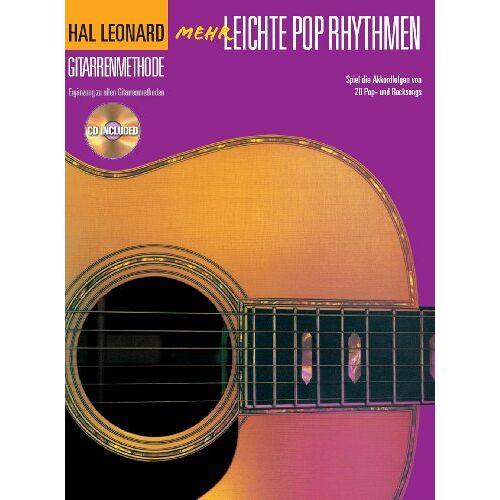Bosworth Music - Hal Leonard Gitarrenmethode. Mehr leichte Pop Rhythmen. Spiel die Akkordfolgen von 20 Pop- und Rocksongs. Mit CD - Preis vom 14.06.2021 04:47:09 h