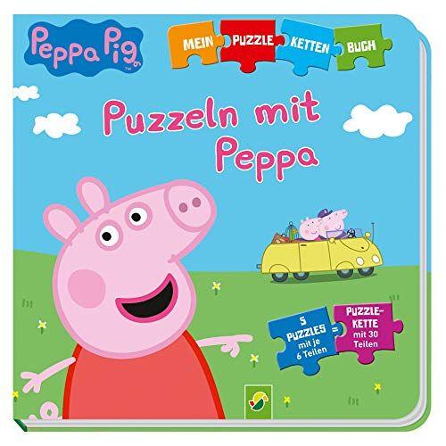 - Peppa Pig - Puzzeln mit Peppa: Puzzle-Ketten-Buch mit 5 Puzzles mit je 6 Teilen - Preis vom 23.09.2021 04:56:55 h
