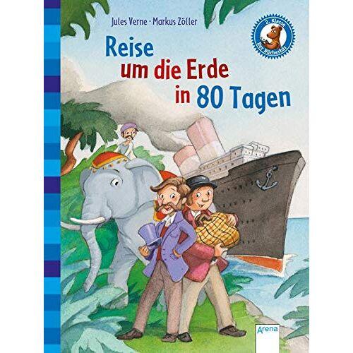 Jules Verne - Der Bücherbär. Erstlesebücher für das Lesealter 2. Klasse / Reise um die Erde in 80 Tagen: Der Bücherbär: Klassiker für Erstleser - Preis vom 23.07.2021 04:48:01 h