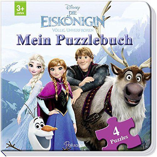 Disney - Disney Die Eiskönigin: Mein Puzzlebuch: Mit 4 Puzzles zu je 12 Teilen - Preis vom 31.07.2021 04:48:47 h