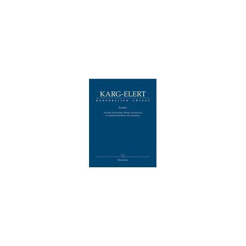 - Lieder für hohe und mittlere Stimme und Klavier - Preis vom 21.06.2021 04:48:19 h