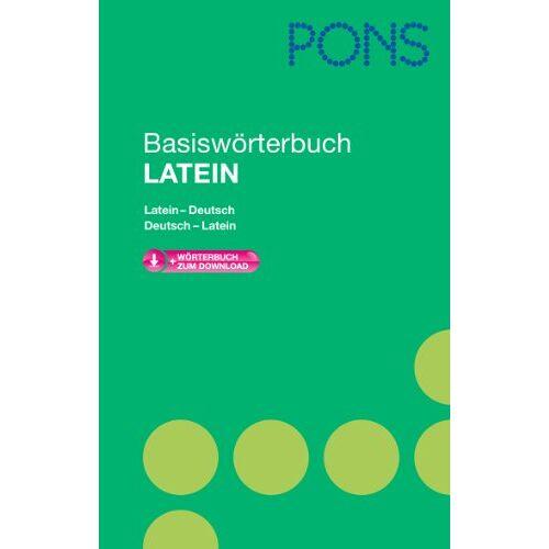 - PONS Basiswörterbuch Latein: Latein-Deutsch/Deutsch-Latein. Mit Download-Wörterbuch - Preis vom 19.06.2021 04:48:54 h