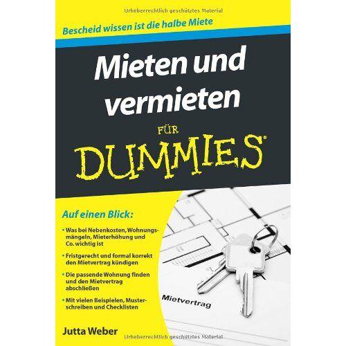 Jutta Weber - Mieten und vermieten für Dummies (Fur Dummies) - Preis vom 20.06.2021 04:47:58 h