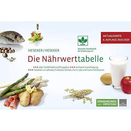 Helmut Prof. Dr. Heseker - Die Nährwerttabelle 2019/2020, 6. Auflage - Preis vom 14.06.2021 04:47:09 h