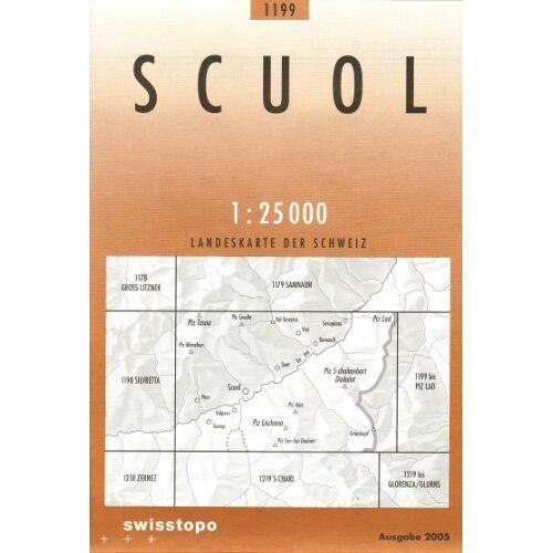 Bundesamt für landestopographi - Swisstopo 1 : 25 000 Scuol - Preis vom 16.06.2021 04:47:02 h