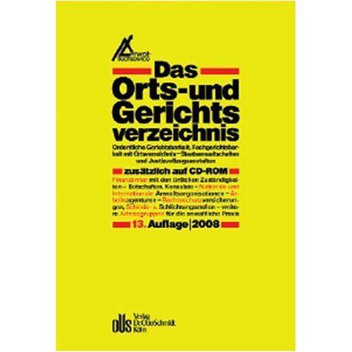 - Das Orts- und Gerichtsverzeichnis 2008, (inkl. CD-ROM) - Preis vom 14.06.2021 04:47:09 h