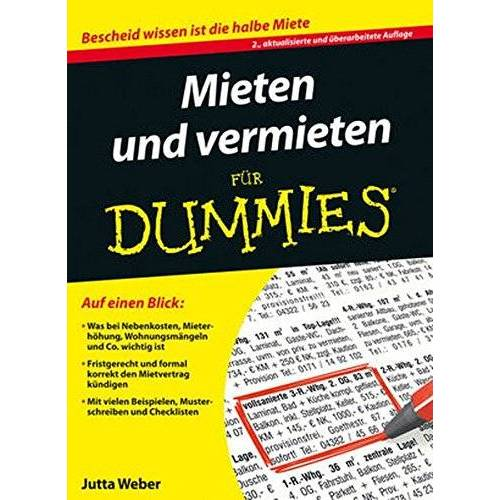 Jutta Weber - Mieten und Vermieten für Dummies - Preis vom 20.06.2021 04:47:58 h