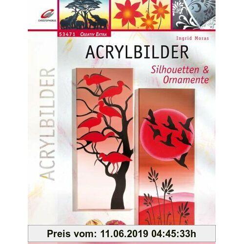 Ingrid Moras Acrylbilder: Silhouetten & Ornamente