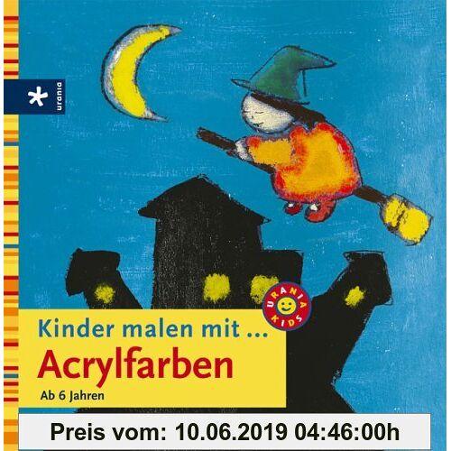 Kinder malen mit  Acrylfarben