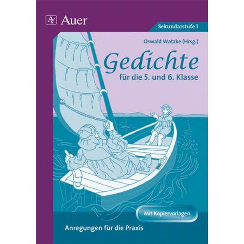 Harald Watzke - Gedichte für die 5. und 6. Klasse: Anregungen für die Praxis - Preis vom 21.10.2020 04:49:09 h
