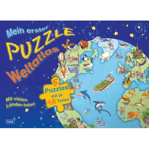 - Mein erster Puzzle-Weltatlas: 5 Puzzles mit je 48 Teilen - Preis vom 27.02.2021 06:04:24 h