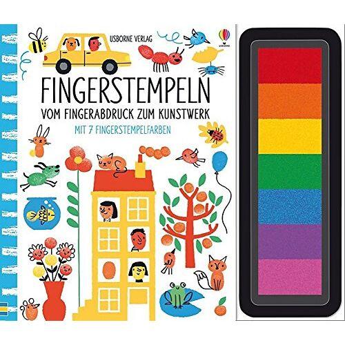 Fiona Watt - Fingerstempeln:  Vom Fingerabdruck zum Kunstwerk: mit 7 Fingerstempelfarben - Preis vom 21.10.2020 04:49:09 h