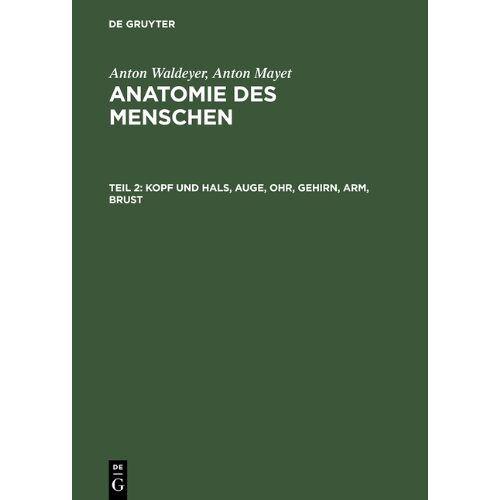Anton Waldeyer - Kopf und Hals, Auge, Ohr, Gehirn, Arm, Brust (Anatomie des Menschen, Band 2) - Preis vom 25.02.2021 06:08:03 h