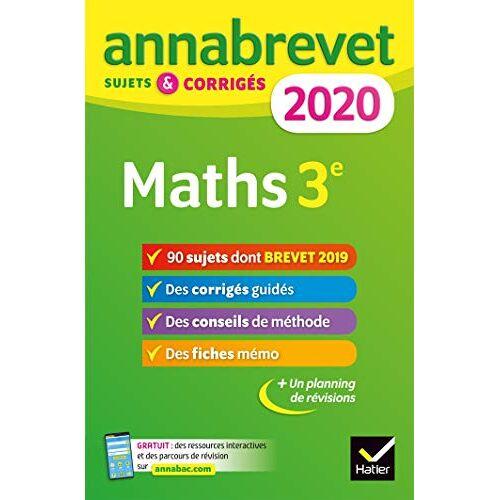 - Annales du brevet Annabrevet 2020 Maths 3e: 90 sujets corrigés (Annabrevet (1)) - Preis vom 14.04.2021 04:53:30 h