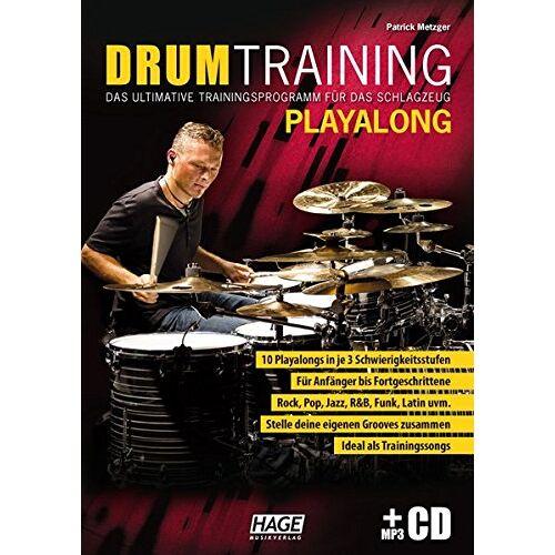 Patrick Metzger - Drum Training Playalong + MP3-CD: Das ultimative Trainingsprogramm für das Schlagzeug - Preis vom 09.04.2021 04:50:04 h