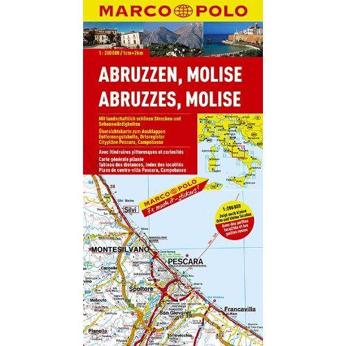 Marco Polo - MARCO POLO Karte Abruzzen, Molise 1:200.000 (Marco Polo Maps) - Preis vom 11.05.2021 04:49:30 h