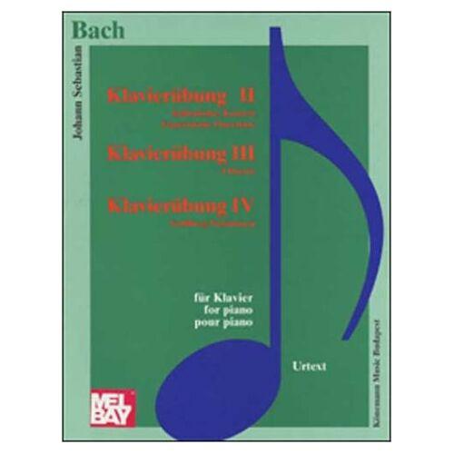 Bach, Johann Sebastian - Klavierubung II, Italienisches Konzert, BWV 971, Franzosische Ouverture, BWV 831; Klavierubung III, 4 Duette, BWV 802-805; Klavierubung IV, Goldberg-Variationen, BWV 988. Für Klavier / for piano - Preis vom 18.10.2020 04:52:00 h