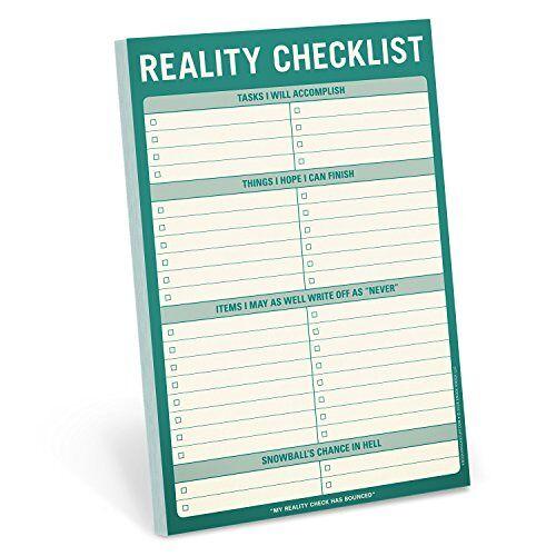 Knock Knock - Knock Knock Reality Checklist Pad (Stationery) - Preis vom 06.03.2021 05:55:44 h