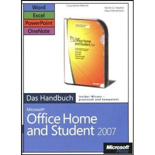 Klaus Fahnenstich - Microsoft Office Home and Student 2007 - Das Handbuch: Word, Excel, PowerPoint, OneNote - Preis vom 15.06.2019 04:47:26 h