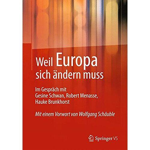 Springer VS, Springer VS - Weil Europa sich ändern muss - Preis vom 15.01.2021 06:07:28 h