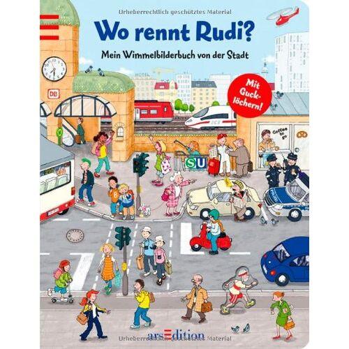 - Wo rennt Rudi?: Mein Wimmelbilderbuch von der Stadt - Preis vom 22.01.2020 06:01:29 h