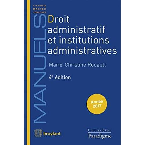 - Droit administratif et Institutions administratives - Preis vom 22.04.2021 04:50:21 h