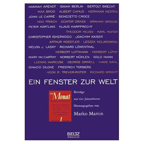 Marko Martin - Ein Fenster zur Welt - Preis vom 17.10.2020 04:55:46 h