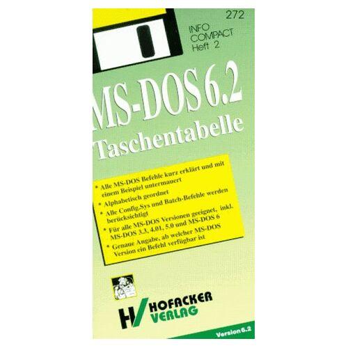 - MS- DOS Taschentabelle - Preis vom 16.04.2021 04:54:32 h