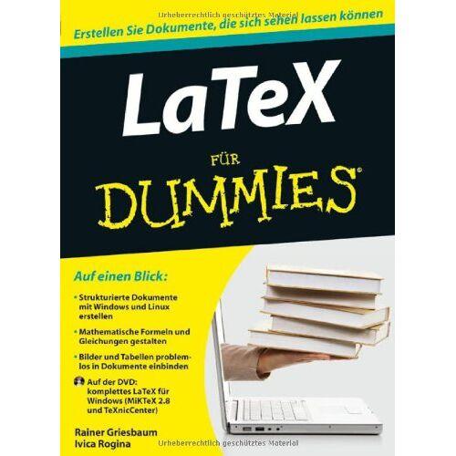 Rainer Griesbaum - LaTeX für Dummies (Fur Dummies) - Preis vom 06.12.2019 06:03:57 h
