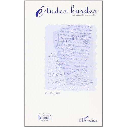 Etudes Kurdes 1 - Etudes kurdes, numéro 1 - Preis vom 26.03.2020 05:53:05 h