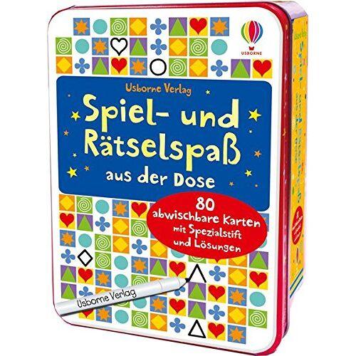 - Spiel- und Rätselspaß aus der Dose: mit abwischbarem Stift & 80 Karten - Preis vom 18.04.2021 04:52:10 h