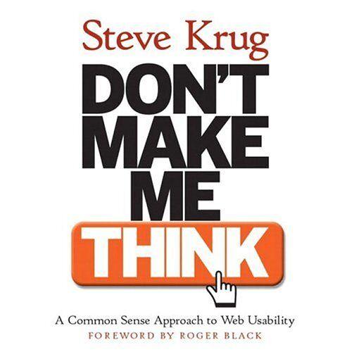 Steve Krug - Don't make me think - Preis vom 05.10.2020 04:48:24 h