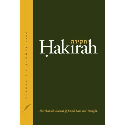 Heshey Zelcer - Hakirah: The Flatbush Journal of Jewish Law and Thought (Volume 3) - Preis vom 10.05.2021 04:48:42 h