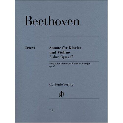 Beethoven, Ludwig Van - Sonate für Klavier und Violine A-dur op. 47 (Kreutzer-Sonate). Violine, Klavier - Preis vom 13.05.2021 04:51:36 h
