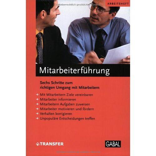 - Mitarbeiterführung. Arbeitsheft - Preis vom 07.05.2021 04:52:30 h