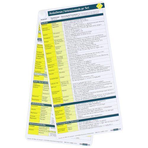 - Anästhesie / Intensivmeds pocketcard Set - Preis vom 12.05.2021 04:50:50 h