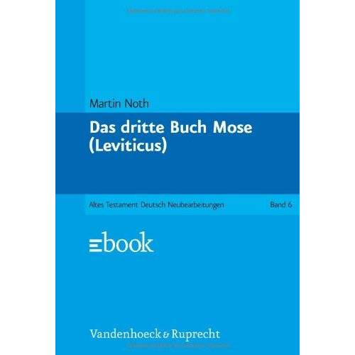 Martin Noth - Das dritte Buch Mose (Leviticus) - Preis vom 13.04.2021 04:49:48 h