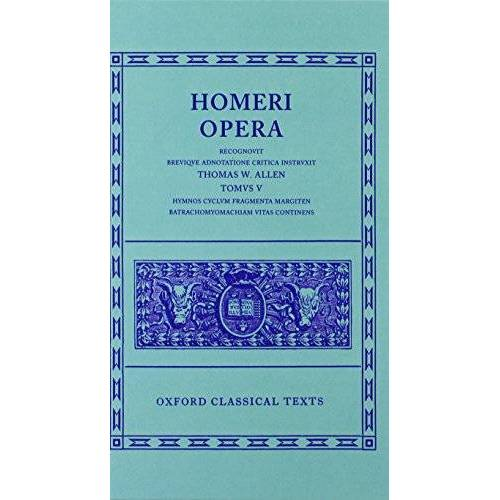 Homer - Homeri Opera Vol. V. Hymns Hymni Homerici - Preis vom 18.04.2021 04:52:10 h