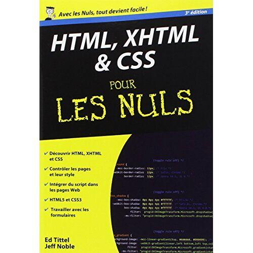 Ed Tittel - HTML, XHTML & CSS pour les nuls - Preis vom 21.01.2021 06:07:38 h