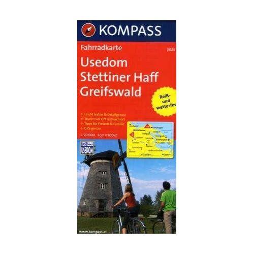 KOMPASS-Karten GmbH - Usedom - Stettiner Haff - Greifswald: Fahrradkarte. GPS-genau. 1:70000 (KOMPASS-Fahrradkarten Deutschland) - Preis vom 25.02.2021 06:08:03 h