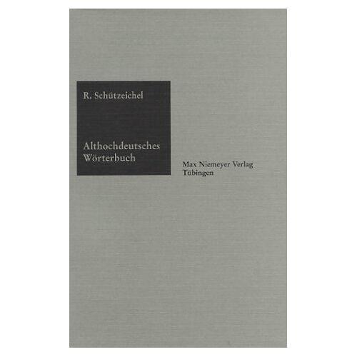 - Althochdeutsches Wörterbuch - Preis vom 13.05.2021 04:51:36 h