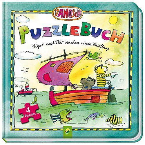Lena Steinfeld - Janosch Puzzlebuch - Tiger und Bär machen einen Ausflug: Mit 4 Puzzles á 12 Teilen - Preis vom 21.01.2021 06:07:38 h