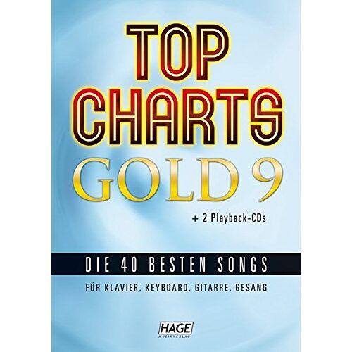 Helmut Hage - Top Charts Gold 9 + 2 Playback CDs: Die 40 besten Songs für Klavier, Keyboard, Gitarre und Gesang - Preis vom 21.01.2021 06:07:38 h