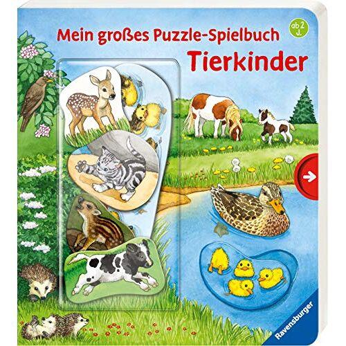 Frauke Nahrgang - Mein großes Puzzle-Spielbuch: Tierkinder - Preis vom 02.03.2021 06:01:48 h