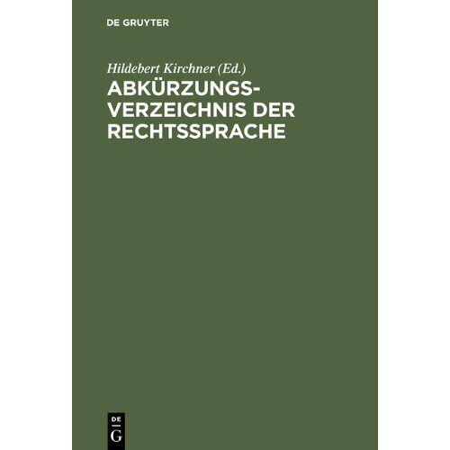 - Abkürzungsverzeichnis der Rechtssprache - Preis vom 31.03.2020 04:56:10 h