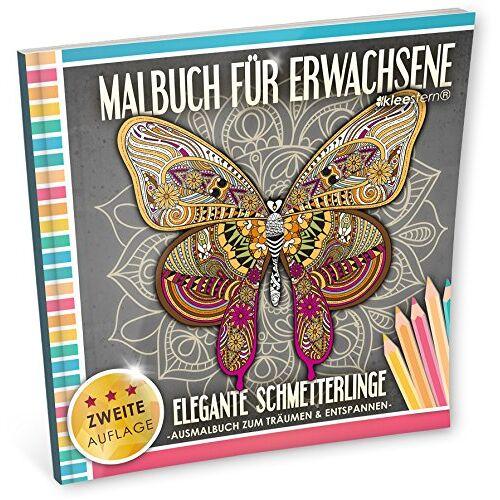 Kleestern Malbücher - Malbuch für Erwachsene: Elegante Schmetterlinge (Ausmalbuch zum Träumen & Entspannen) - Preis vom 04.04.2020 04:53:55 h